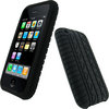 View Item iGadgitz Black Silicone Skin Case Cover with Tyre Tread Design for Apple iPhone 3G &amp; New 3GS 8GB, 16GB &amp; 32GB + Screen Protector
